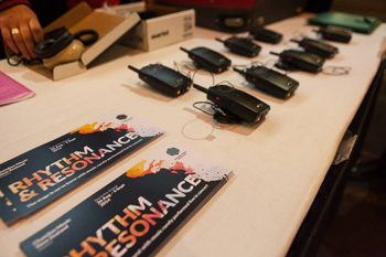 Audio description headsets at the Rhythm and Resonance conert 2014