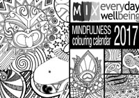 front cover of the 2017 Mindfulness Colouring Calendar