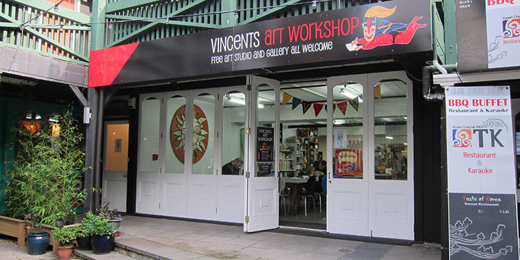 entrance to Vincents Art Workshop