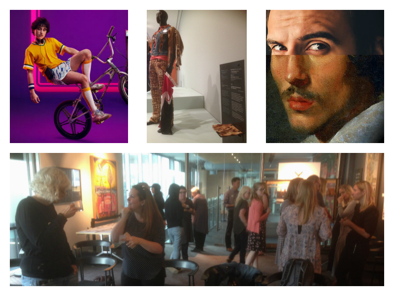 A collage of images of accessible arts in Auckland