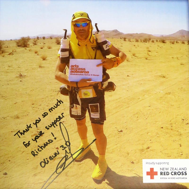 Olivier Lacoua runningthis year's Marathon des Sables in the Sahara Desert