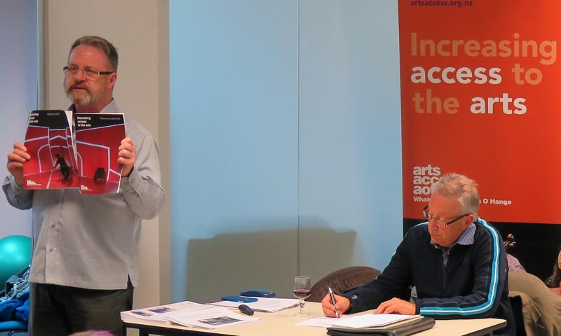 Richard Benge, Executive Director, and Howard Fancy, Chair, Arts Access Aotearoa