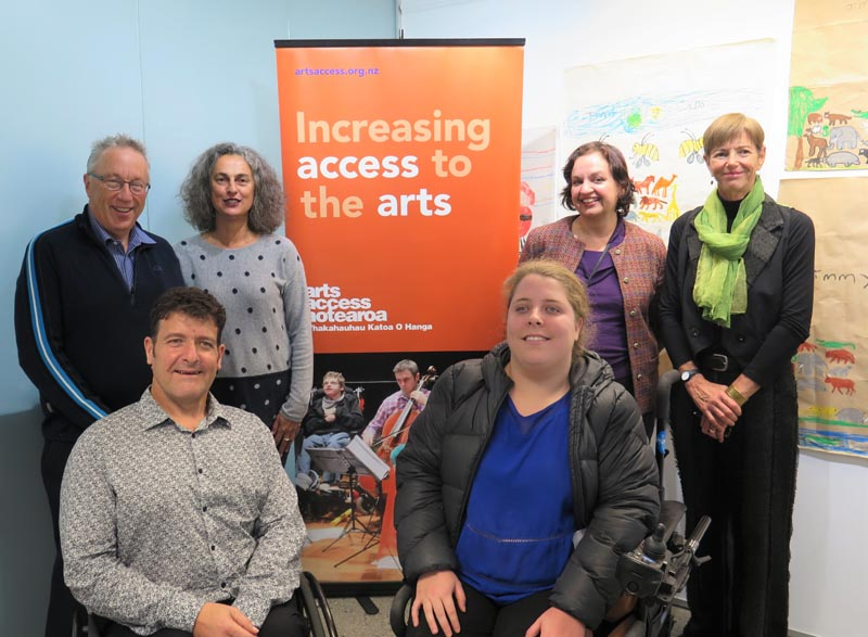 Members of Arts Access Aotearoa's board at the AGM