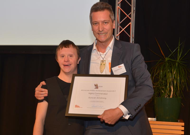 Duncan Armstrong, presented the Highly Commended citation by Tanemahuta Gray