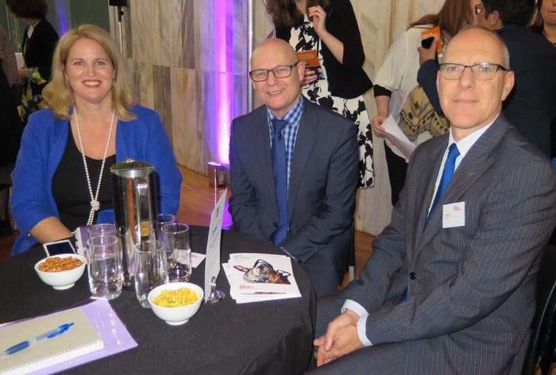 Hon Louise Upston, Ray Smith and Chris Fry, Department of Corrections at the Arts Access Awards 2017