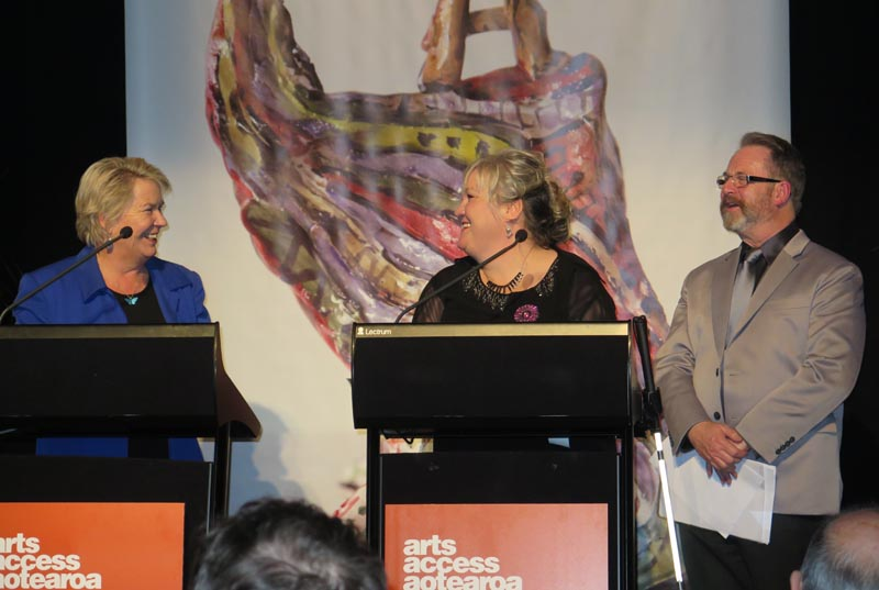 Hon Nicky Wagner with co-presenters Julie Woods and Richard Benge