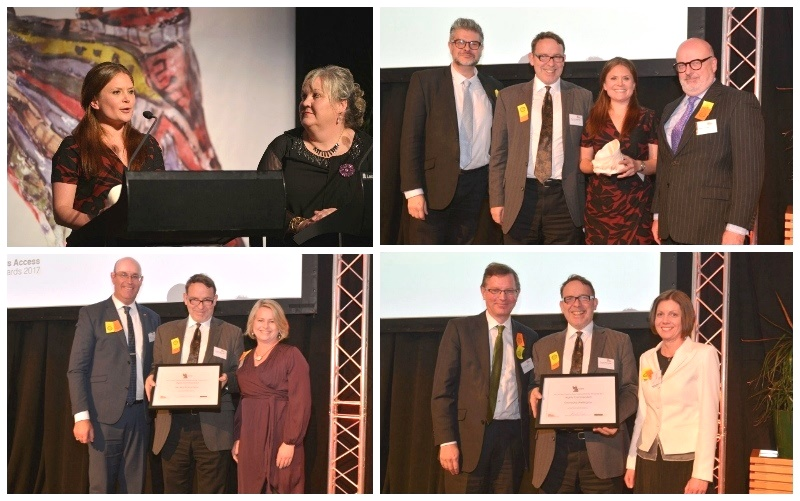 A collage of images representing the Arts Access Creative Zealand Arts For All Award 2017