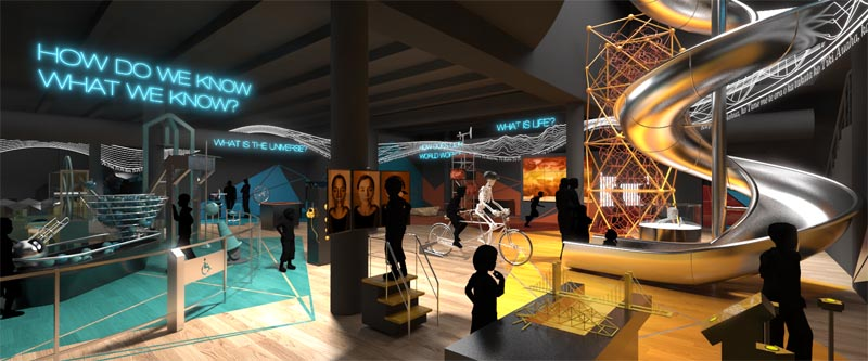 Tūhura Otago Community Trust Science Centre at Otago Museum, Concept 2014 © Otago Museum and Story Inc