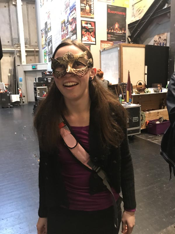 Áine Kelly-Costello, a blind student at Romeo and Juliet