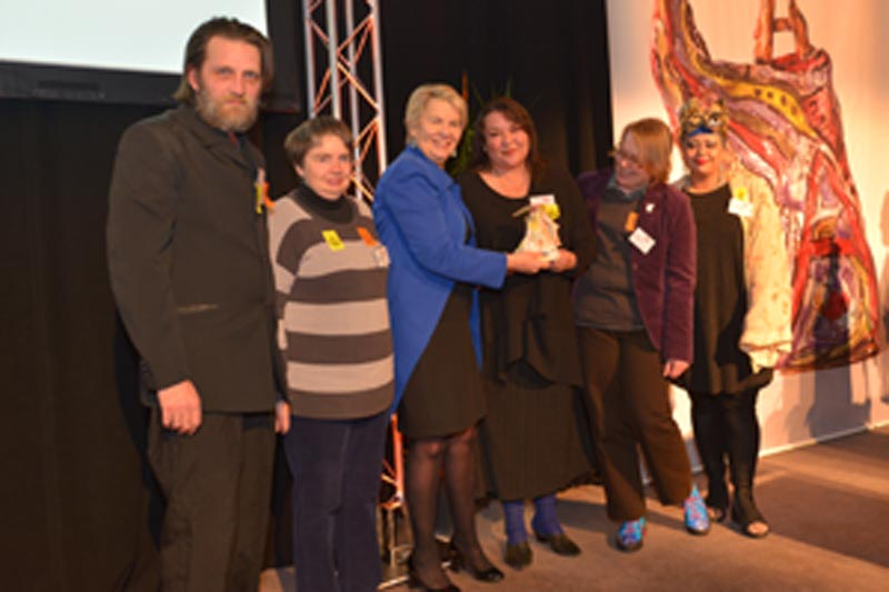 Pablos Arts Studios presented award by Hon Nicky Wagner