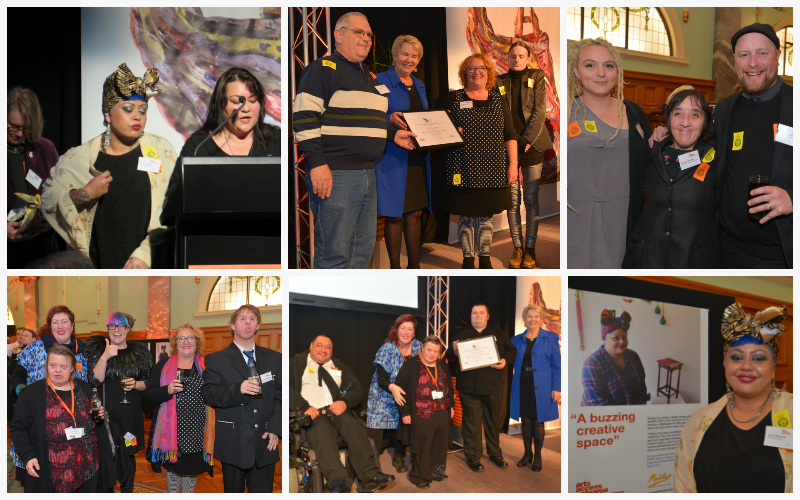 Collage of images of creative space recipients in the Arts Access Awards 2017