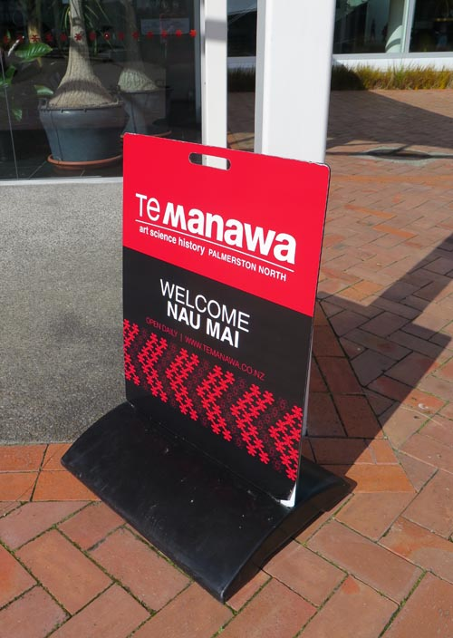 Welcome to Te Manawa signage