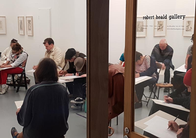 Artists at the drawing workshop