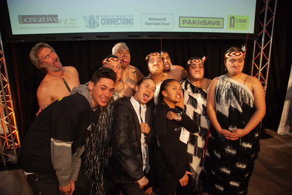 Recipients and artists in the Humans of Hendo project with Ngati Poneke Young Maori Club