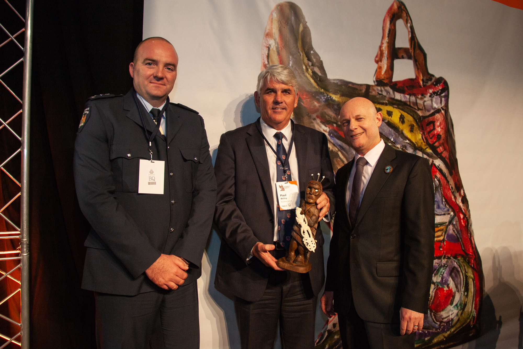 George Massingham, Paul Melloy and Ray Smith, CEO, Department of Corrections Photo: Vanessa Rushton Photography