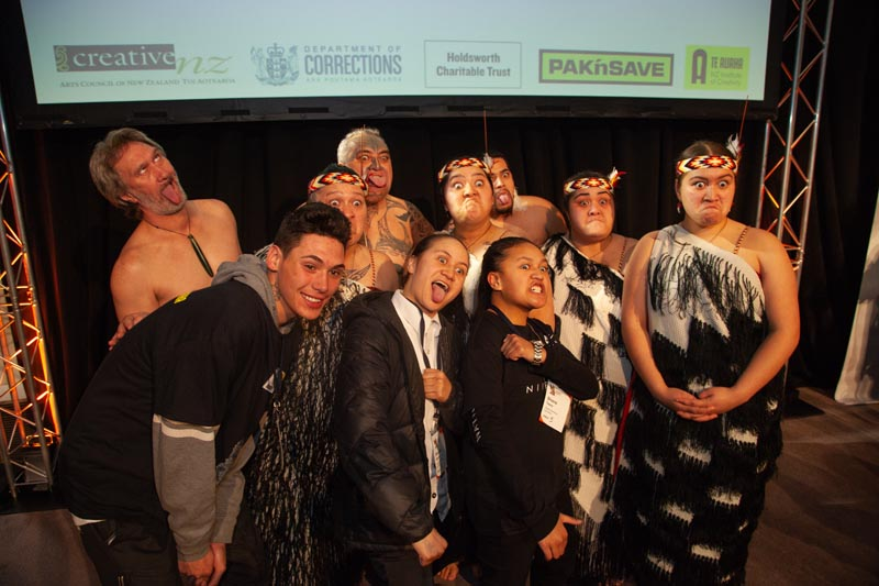 Artists from the Humans of Hendo project with the Ngati Poneke Young Maori Club