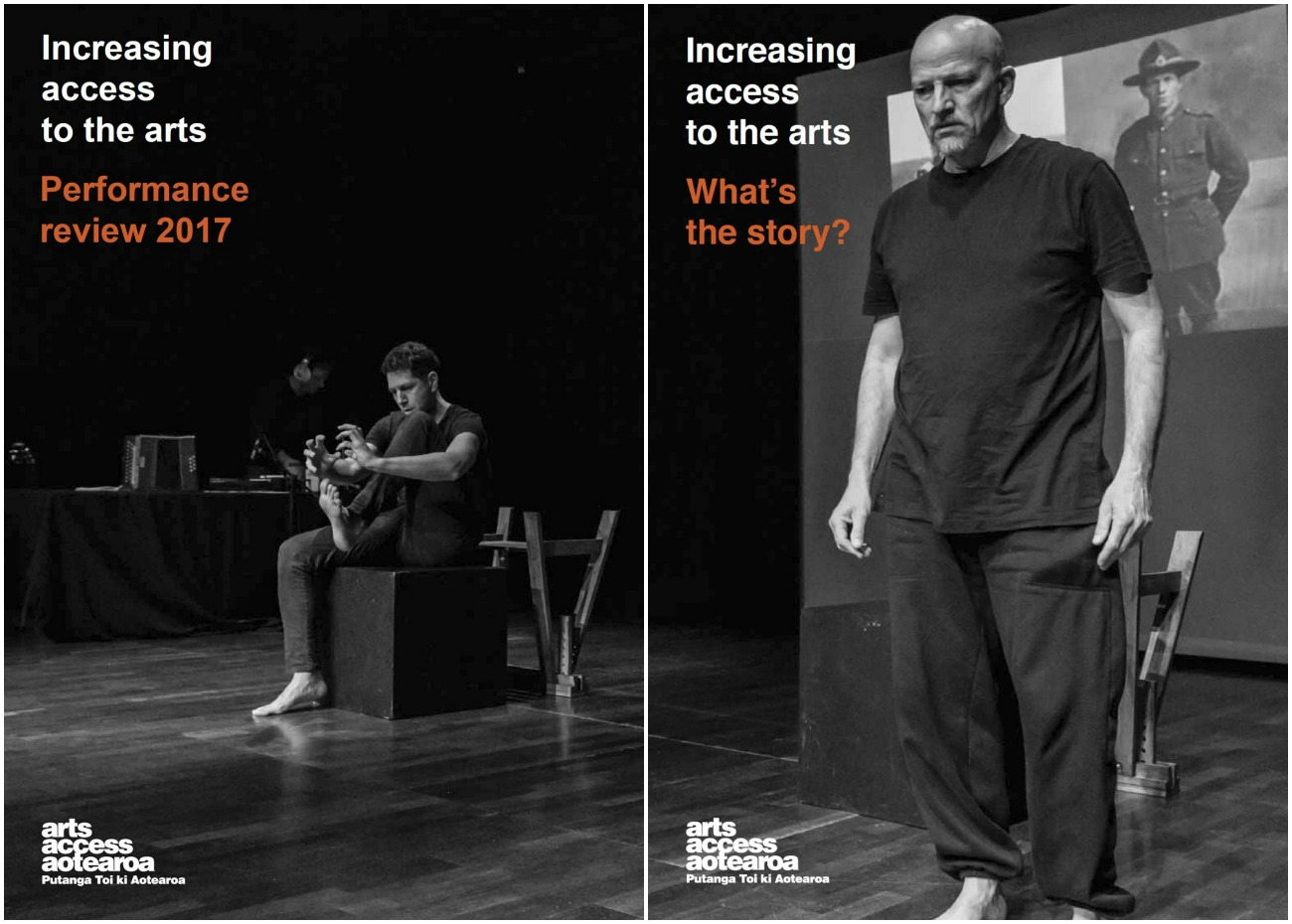 Front covers of the Performance Review 2017 and What's the story? 2017
