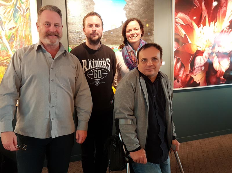 Richard Benge, James Pol, Claire Noble and Anthony Towler at a recent Accessible Arts Auckland meeting