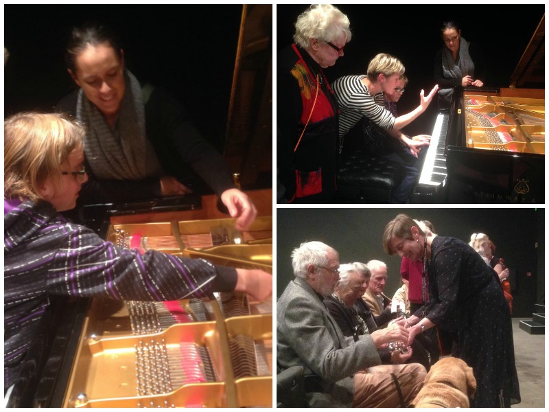 Collage of images of touch tour of Chamber Music NZ concert