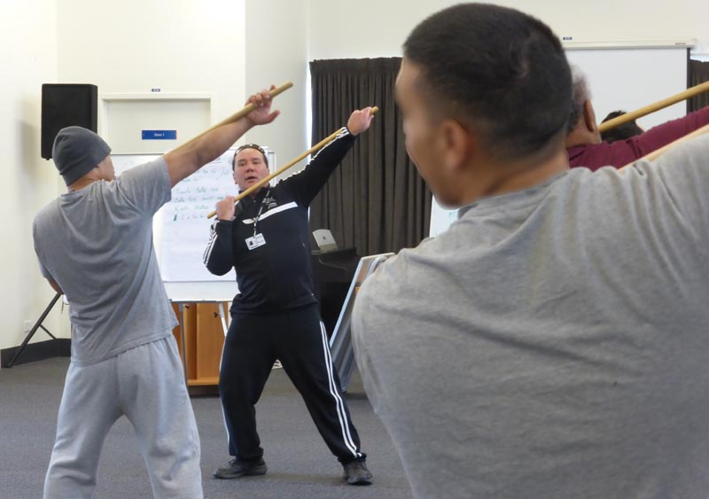 Rue-Jade Morgan teaches a tikanga programme at Otago Region Corrections Facility