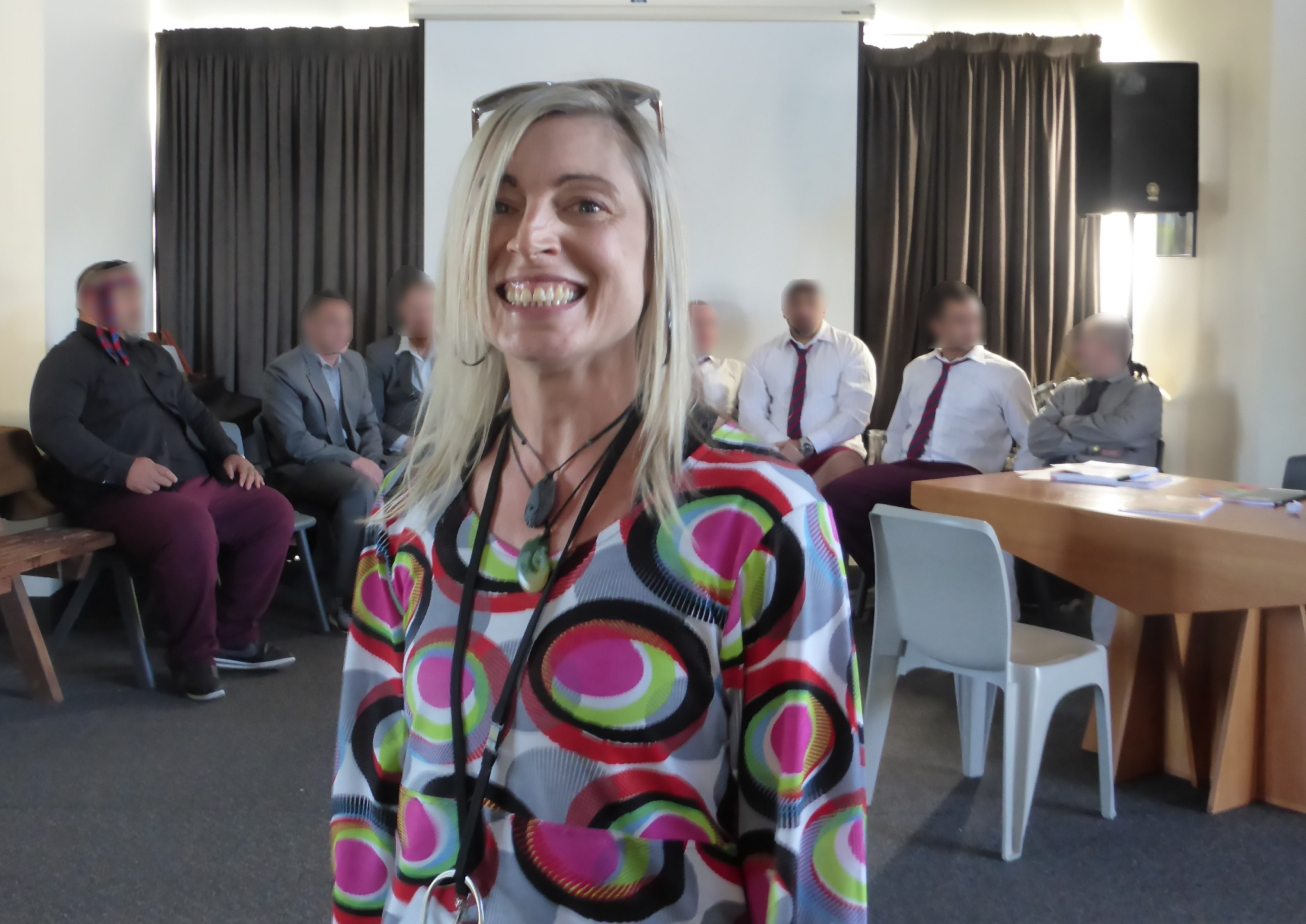 Ruth Ratcliffe and the drama group at Otago Corrections Facility