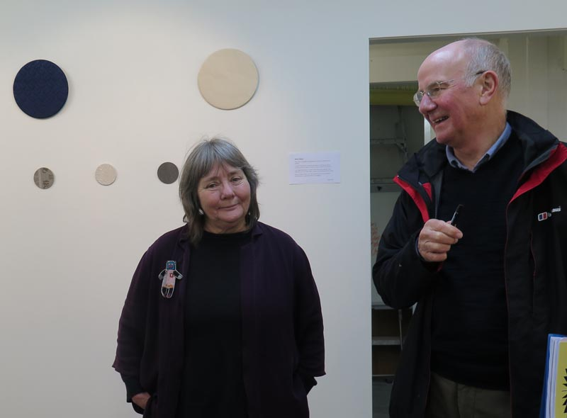 Glen McDonald and Keith Reeves in Vincents Gallery