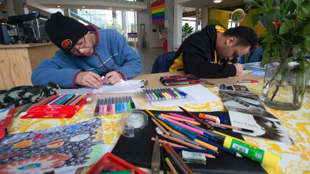 Artists at NOA Studio at Te Manawa in Palmerston North