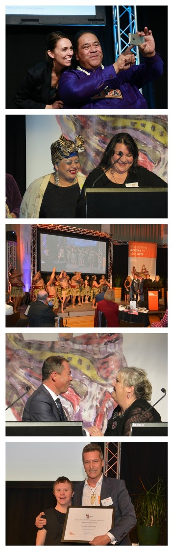 Collage of images the from Arts Access Awards