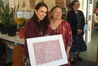 Carmen Brown and Prime Minister Jacinda Ardern