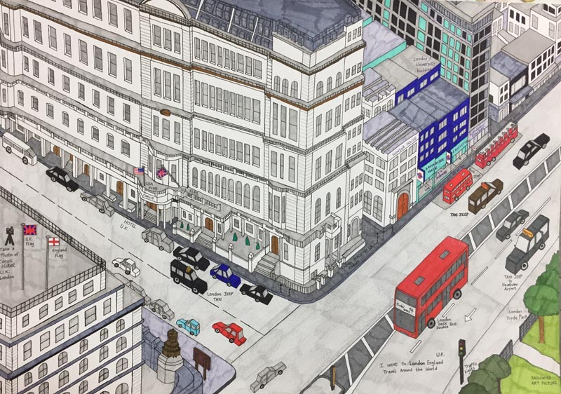 Peter Chou's drawing of London