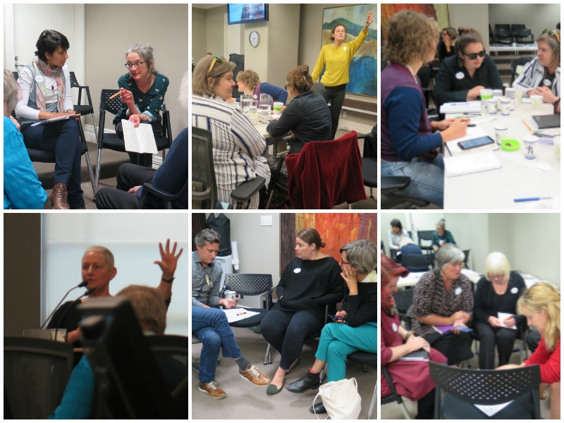 A collage of images from the Arts For All Wellington Network meeting in February 2019