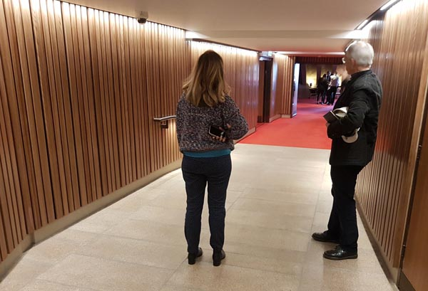 A completely new corridor was created to provide access for wheelchair users to the glass elevator in the northern foyer of  the Concert Hall