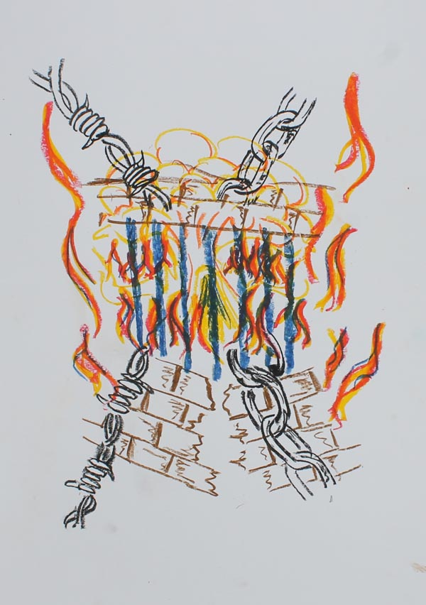 Artwork by participant in the art therapy programme in Auckland Prison