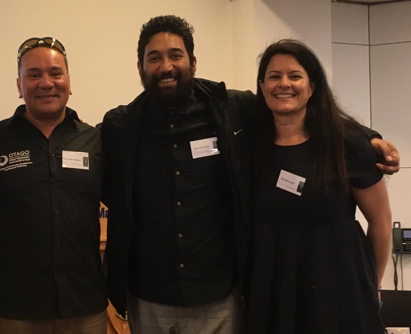 Rue-Jade Morgan, Chris Ulutupu and Rachel Leota at the Performing Arts and Justice Symposium