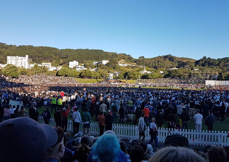 Basin Reserve vigil after 15 March terrorist attack