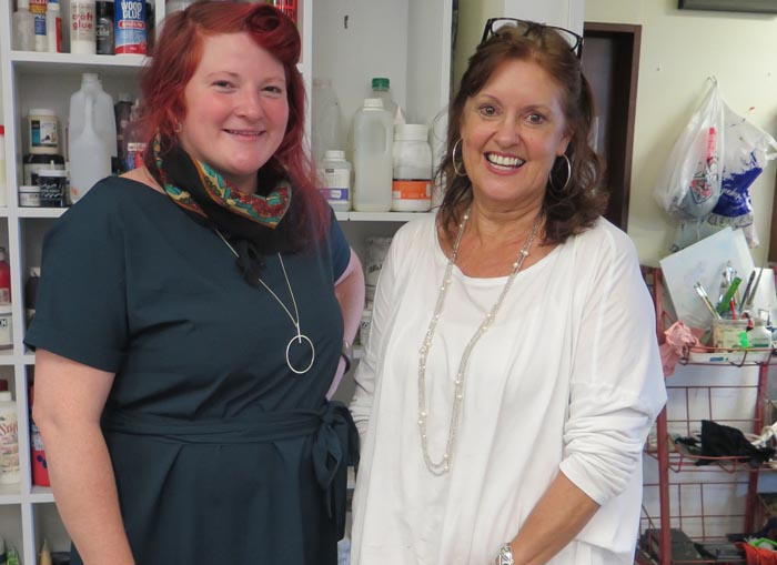 Ellyn Rose of Pablos Studio and Jenny Hutchings