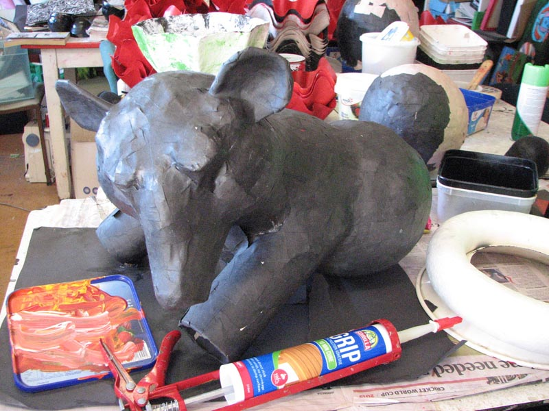 A papier-mâché elephant made at Community Art Works