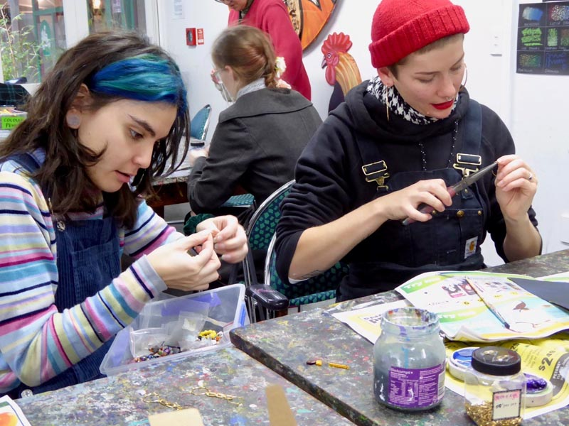 Artists at Vincents Art Workshop
