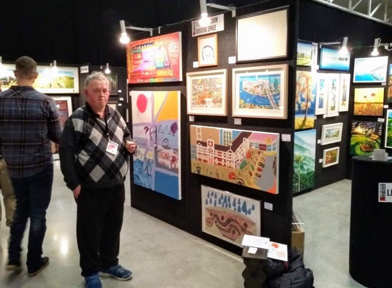 Gary Buchanan, participating artist, and the CHCH ART SHOW