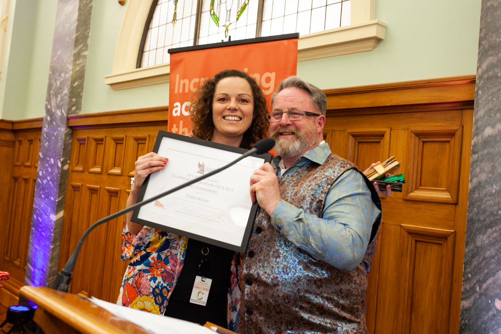 Claire Noble and Richard Benge, Te Putanga Toi Arts Access Awards 2019