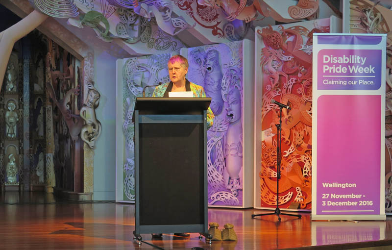 Robyn Hunt speaks at Disability Pride Week 2016
