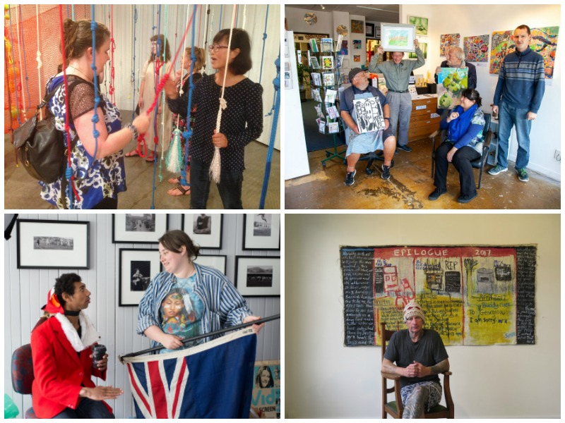 collage of images representing Arts Access Aotearoa's work