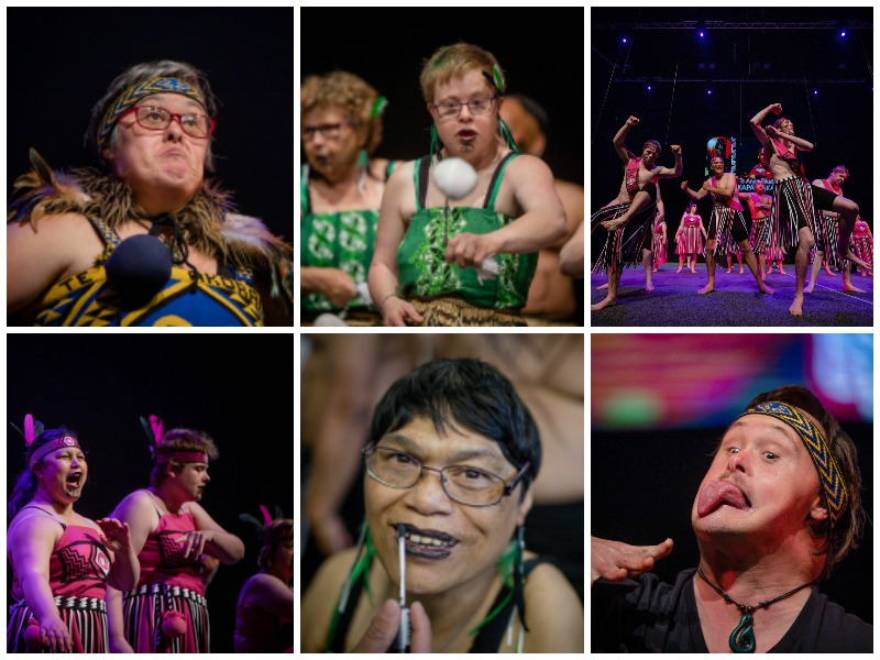 Collage of images from Te Anga Pāua o Aotearoa National Kapa Haka Festival Photos: Christine Dawkins