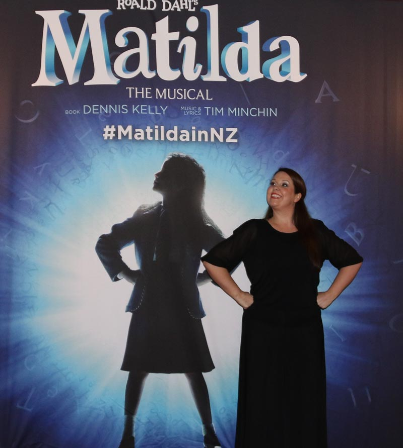 Kelly Hodgins sign interpreting the musical Matilda