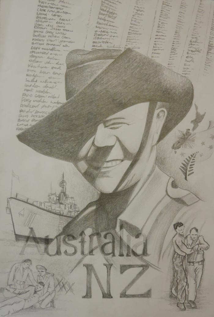 An entry in the ANZAC Day art competition