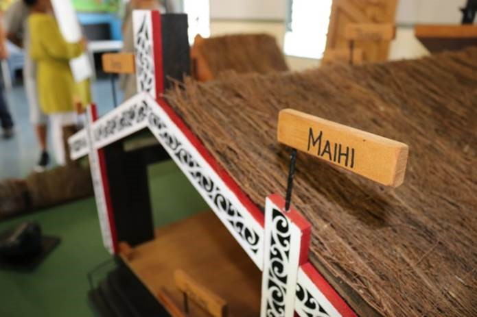 A large-model marae presented to a local school