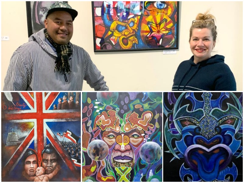 Collage of images of Northland Region Corrections Facility Matariki exhibition