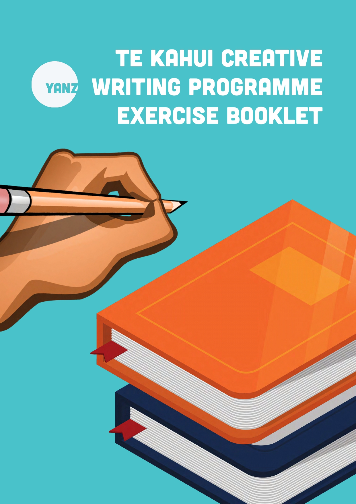 The cover of a Te Kahui creative writing exercise booklet