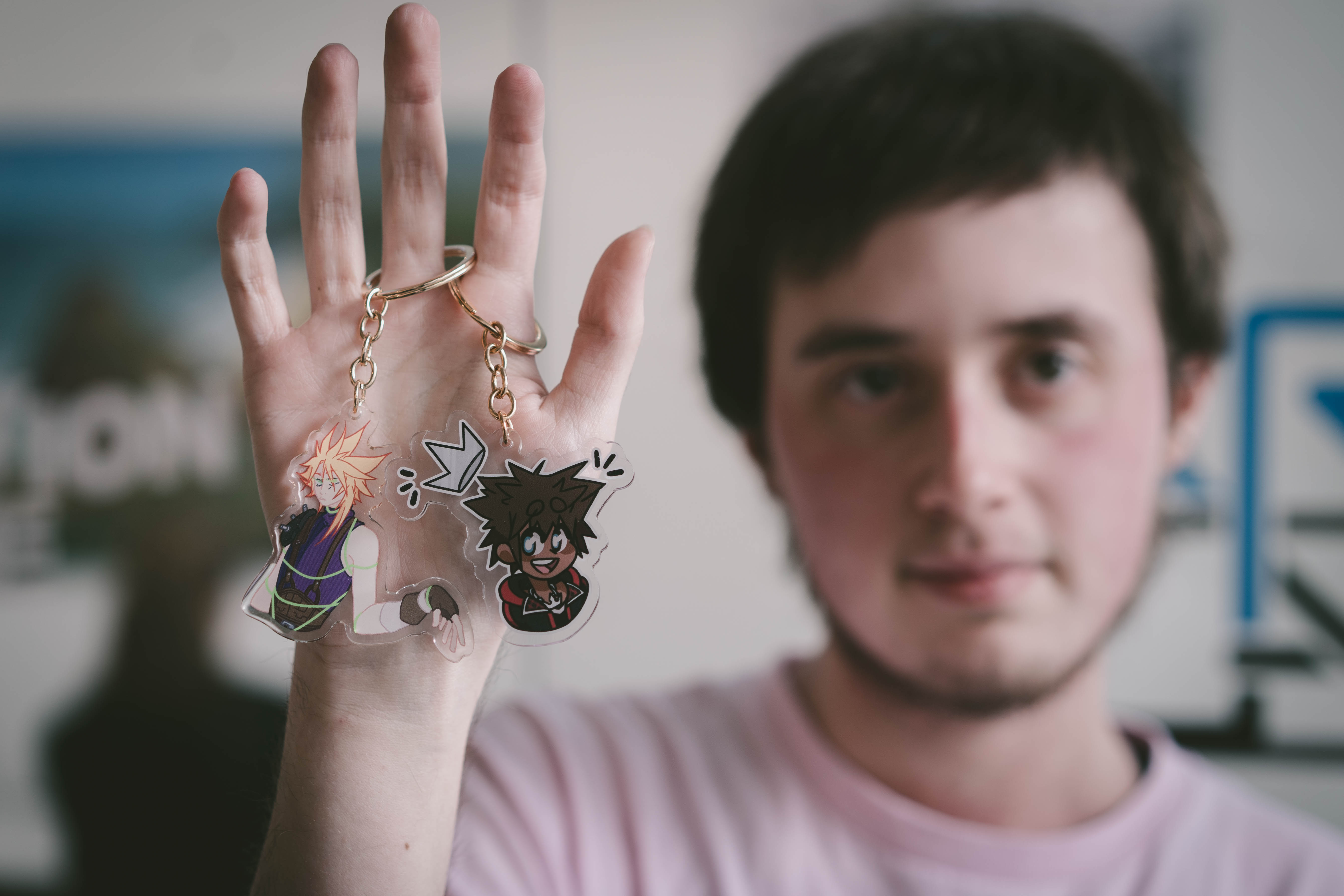 Ashe Black with two of his key rings