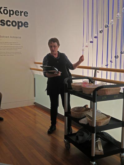 Judith Jones conducting a sensory tour at Te Papa